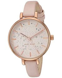 Nine West Nw Crystal Accented Strap Watch - Multicolor