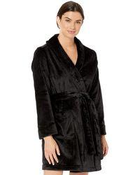 Amazon Essentials Mid-length Plh Robe Nightgown - Black