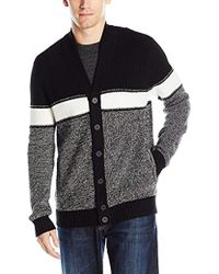 Kenneth Cole Reaction - Shawl Colorblock Marled Sweater - Lyst