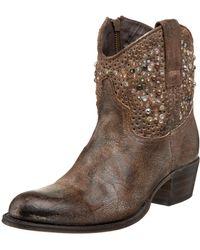 Frye Deborah Studded Western Boot - Gray