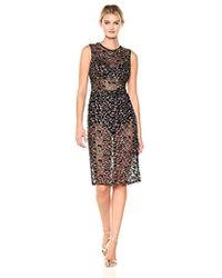 BCBGMAXAZRIA - Bcbgmax Azria Riley Woven Metallic Illusion Dress - Lyst