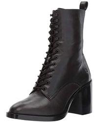 Frye Pia Combat Boot - Black