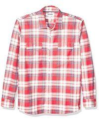Goodthreads - Amazon Brand - Standard-fit Long-sleeve Plaid Twill Shirt - Lyst