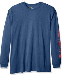 Carhartt - Big Big & Tall Signature Logo Long Sleeve T-shirt - Lyst