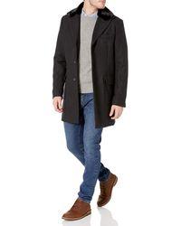 Sean John Textured Wool Coat With Faux-fur Collar - Multicolor