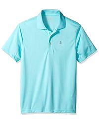 58d73a63 Lyst - Izod Performance Golf Grid Polo in Yellow for Men