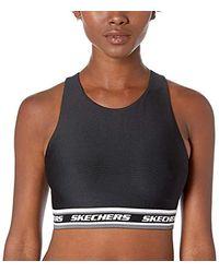 Skechers Virtual Stripe Racerback Crop Top - Black