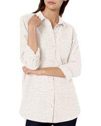 Goodthreads Heavyweight Flannel Oversized Boyfriend - White