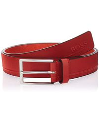 BOSS - Tinos Leather Belt - Lyst