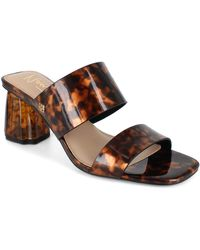Nanette Lepore Slide Heeled Sandal - Brown