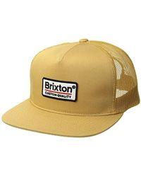 69287d41a1195 Lyst - Brixton Palmer Medium Profile Adjustable Mesh Hat in Green ...