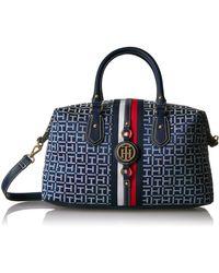 Tommy Hilfiger Handbag Jaden Satchel - Blue