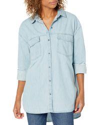 Goodthreads Chemise en Jean avec Deux Poches Tunic-Shirts - Bleu