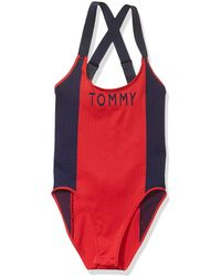 Tommy Hilfiger Seamless One Piece Bodysuit - Red