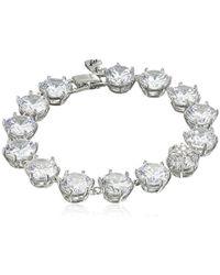 "Betsey Johnson - ""betsey Blue Cubic Zirconia Stone Tennis Bracelet - Lyst"