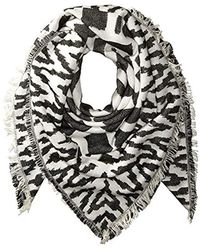 304590124049e French Connection - Multi Geo Patterned Scarf - Lyst