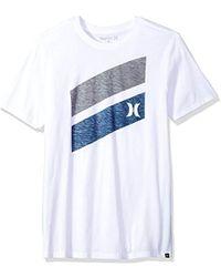 Hurley Premium Icon Slash Graphic Short Sleeve Tee Shirt - White