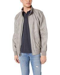 Calvin Klein Faux Leather Bomber Jacket - Multicolour