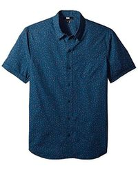 PAIGE - Becker Short Sleeve Button Down Printed Shirt - Lyst