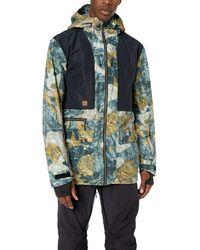 Quiksilver Black Alder 2l Gore-tex Hooded Jacket - Blue