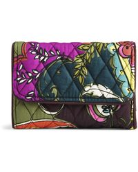 Vera Bradley Signature Cotton Riley Compact Wallet With Rfid Protection - Multicolor