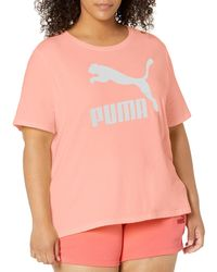 PUMA - Plus Size Classics Logo Tee - Lyst