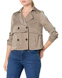 Ellen Tracy Petite Soft Cropped Trench - Multicolor