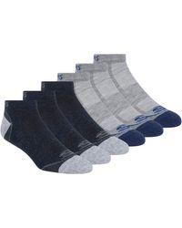 Skechers 6 Pack Low Cut Socks - Blue