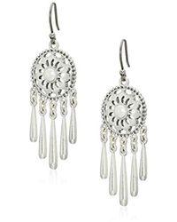 Lucky Brand - Openwork Pearl Fringe Drop Earrings - Lyst