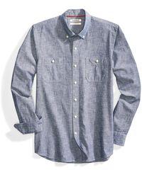 Goodthreads Slim-Fit Long-Sleeve Chambray button-down-shirts - Blau