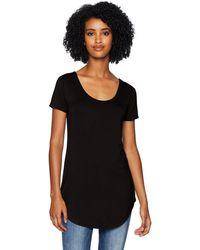 Daily Ritual Jersey Short-sleeve Scoop-neck Longline - Black