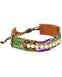 Chan Luu - Mix Pull Tie Friendship Cuff Bracelet - Lyst