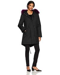 Mackage Rena-d Oversized Twill Down Parka W/removable Trimmed Hood - Black