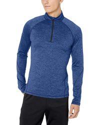 Peak Velocity Thermal Long Sleeve Quarter-zip Athletic-fit - Blue
