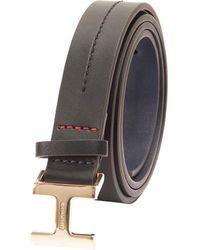 Tommy Hilfiger 100% Leather Fashion Belt - Black