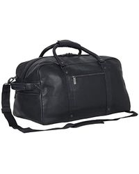 """Kenneth Cole Reaction - Manhattan Pdm Leather 20"""" Top Zip Anti-theft Rfid Travel Duffel Bag/carry-on - Lyst"""