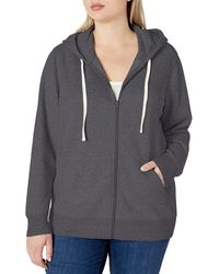 Amazon Essentials Plus Size French Terry Fleece Full-Zip Hoodie Fashion-Hoodies - Grigio