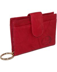 Buxton Heiress Pik-me-up Tab Card Case - Red