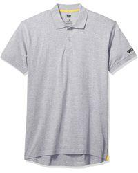 Caterpillar Classic Cotton Polo Shirt - Gray