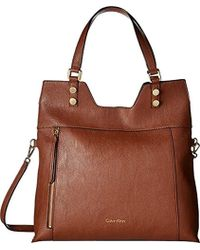 Calvin Klein - Alexis Faux Leather Reversible North/south Tote - Lyst