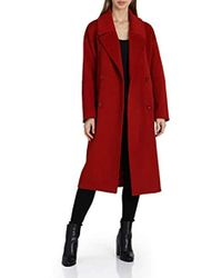 Badgley Mischka Double-breasted Wool-blend Coat - Red