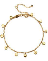 Satya Jewelry - Gold Plate Moon Phase Charm Bracelet - Lyst