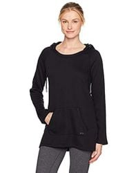 Marc New York - Long Sleeve Hooded Tunic With Pu Piping - Lyst