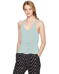 Volcom - Deeper Thoughts Buttoned Front Cami Tank Top - Lyst