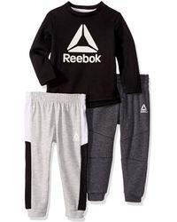 Reebok Boys International 3-Piece Shorts Set Outfit