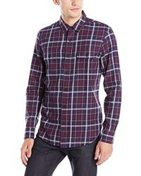 Lucky Brand - Miter Two Pocket Shirt In Navy Multi - Lyst