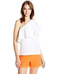 Trina Turk - Mayreau Ruffle Shirting One Shoulder Top - Lyst