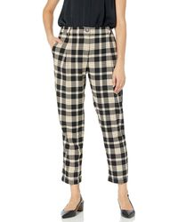 Vince Camuto Highland Plaid Cuffed Pant - Black