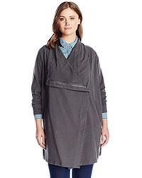 Two By Vince Camuto - Plus Size Space Dyed Long Open Front Knit Jacket - Lyst