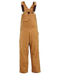 Wolverine - Caldwell Durable Cotton Duck Canval Insulated Bib Overall - Lyst